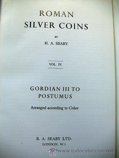 Catálogos y Libros de Monedas: Roman Silver Coins Seaby vol.4 - Foto 2 - 31656827