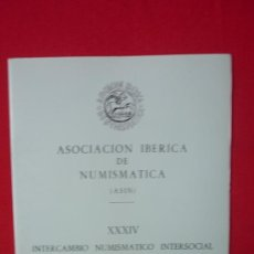 Catálogos y Libros de Monedas: CATALOGO ASOCIACION IBERICA DE NUMISMATICA--FOTOGRAFIAS DE MONEDAS ANTIGUAS AÑO 1988. Lote 32697545