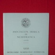 Catálogos y Libros de Monedas: CATALOGO ASOCIACION IBERICA DE NUMISMATICA--FOTOGRAFIAS DE MONEDAS ANTIGUAS AÑO 1987. Lote 32697572