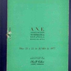 Catálogos y Libros de Monedas: CATALOGO MONEDAS. ASOCIACION NUMISMATICA ESPAÑOLA. REDACTADO POR CALICO. 1977. VER DESCRIPCION.. Lote 33342246