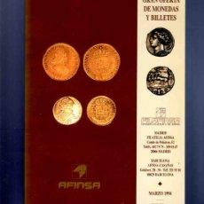Catalogues et Livres de Monnaies: CATALOGO. GRAN OFERTA DE MONEDAS Y BILLETES. AFINSA. FILAFINSA. 1994. . Lote 33342309