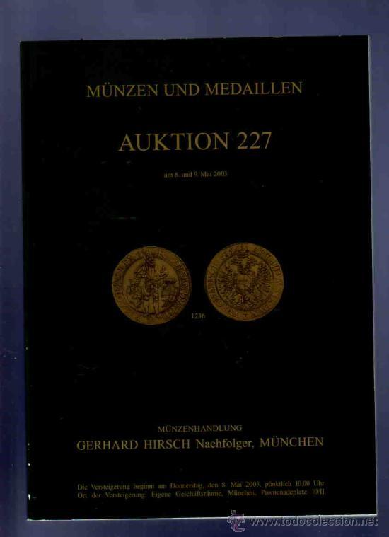 Catalogo Monedas Y Medallas Subasta Hirsch M Comprar Catálogos