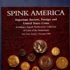 Catálogos y Libros de Monedas: CATALOGO MONEDAS. ANTIGUAS, EXTRANJERAS Y DE LOS ESTADOS UNIDOS. SPINK AMERICA. 1998.. Lote 33380746