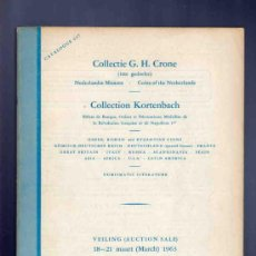 Catálogos y Libros de Monedas: CATALOGO MONEDAS, MEDALLAS, BILLETES... COLECCION KORTENBACH. CRONE. SCHULMAN. SUBASTA. 237. 1963. . Lote 33393776