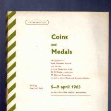 Catálogos y Libros de Monedas: CATALOGO MONEDAS Y MEDALLAS. SCHULMAN. AMSTERDAN. CATALOGO 239. SUBASTA. 1965.. Lote 33393792