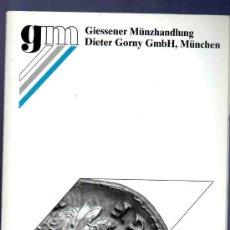 Catálogos y Libros de Monedas: CATALOGO MONEDAS ANTIGUAS. GIESSENER MUNZHANDLUNG. AUKTION 101. 2000.. Lote 33394369