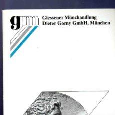 Catálogos y Libros de Monedas: CATALOGO MONEDAS ANTIGUAS. GIESSENER MUNZHANDLUNG. AUKTION 102. 2000.. Lote 33394380