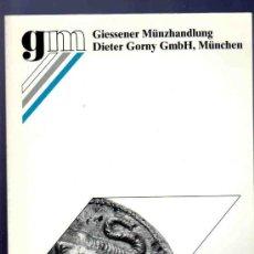 Catálogos y Libros de Monedas: CATALOGO MONEDAS ANTIGUAS. GIESSENER MUNZHANDLUNG. AUKTION 96. 1999.. Lote 33394419
