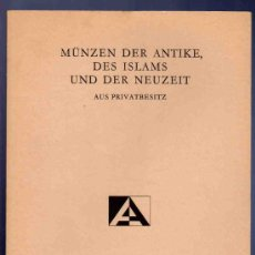 Catálogos y Libros de Monedas: CATALOGO DE MONEDAS ANTIGUAS, ISLAMICAS Y MODERNAS. AUCTIONES S.A. SUBASTA 16. 1986.. Lote 33395336