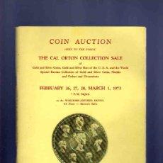 Cataloghi e Libri di Monete: CATALOGO MONEDAS, MEDALLAS... THE CAL ORTON COLLECTION SALE. SCHULMAN. 1973.. Lote 33397508