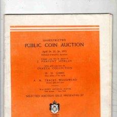 Catálogos y Libros de Monedas: CATALOGO MONEDAS. PUBLIC COIN AUCTION. SCHULMAN. NEW YORK. 1952.. Lote 248476435
