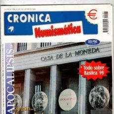 Catálogos y Libros de Monedas: CRONICA NUMISMATICA. REVISTA. FERNANDO JESUS, OROS MEDIEVALES, BASILEA ´99... Nº 101. 1999.. Lote 33438622