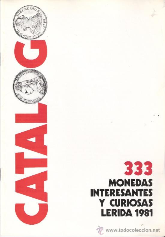 catálogo subasta.333 monedas interesantes y cur - Comprar Catálogos ...