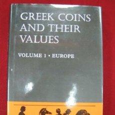 Catálogos y Libros de Monedas: CATALOGO MONEDA GRIEGA,VOLUMEN 1 EUROPA,INCLUYE MONEDA IBERICA . Lote 34227877
