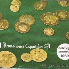 Catálogos y Libros de Monedas: CATALAGO DE ACUÑACIONES ESPAÑOLAS SA DE 1969 - MONEDA - MONEDAS - BARCELONA. Lote 35598320