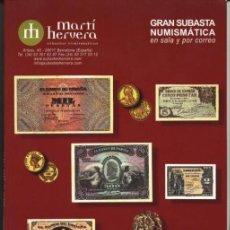 Catálogos y Libros de Monedas - GRAN SUBASTA NUMISMATICA. MARTI HERVERA 20-III-2007 - 36317986
