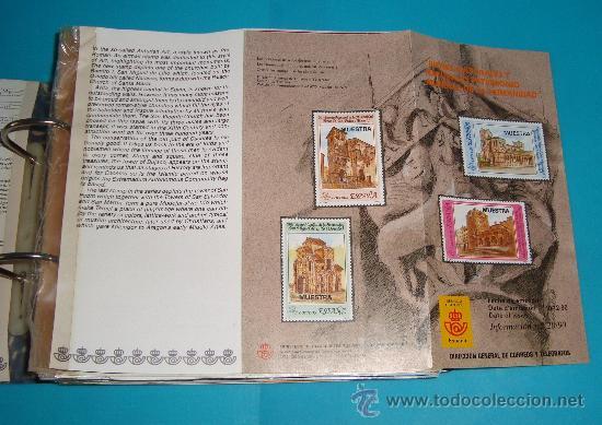 Catálogos y Libros de Monedas: CATALOGO COLECCION CON 220 FASCICULOS EXPLICATIVOS DE LAS EMISIONES DE SELLOS DE ESPAÑA, 1982 A 1990 - Foto 3 - 36837121