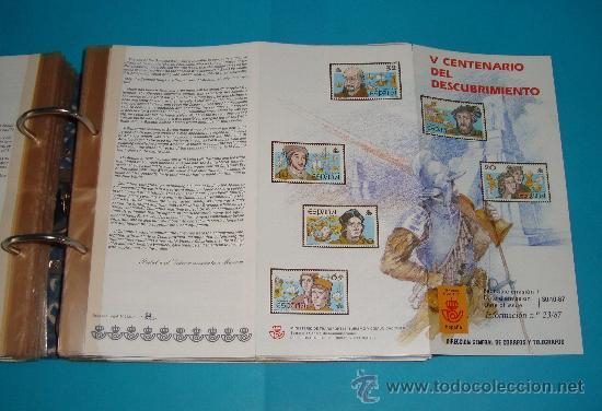 Catálogos y Libros de Monedas: CATALOGO COLECCION CON 220 FASCICULOS EXPLICATIVOS DE LAS EMISIONES DE SELLOS DE ESPAÑA, 1982 A 1990 - Foto 5 - 36837121