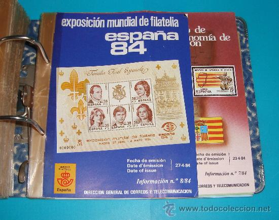 Catálogos y Libros de Monedas: CATALOGO COLECCION CON 220 FASCICULOS EXPLICATIVOS DE LAS EMISIONES DE SELLOS DE ESPAÑA, 1982 A 1990 - Foto 10 - 36837121
