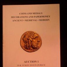 Catálogos y Libros de Monedas: MONEDAS Y MEDALLAS. OLIVIER CAHPONNIERE. HESS 2010 364 PAG. Lote 37540449