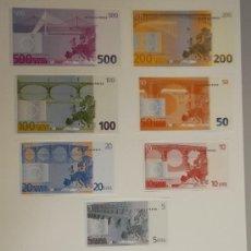 Catálogos y Libros de Monedas: RECORTABLE BILLETES Y MONEDAS DE EUROS CAMPAÑA COMUNICACIÓN EURO ESPAÑA . Lote 38203182