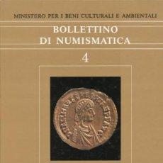 Catálogos y Libros de Monedas: BOLLETTINO DI NUMISMATICA. (MINISTERO PER I BENI CULTURALI E AMBIENTALI) N. 4 – 1985.. Lote 38306379