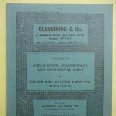 Catálogos y Libros de Monedas: GLENDINING & CO. SILVER COINS. 1973. Lote 38577230