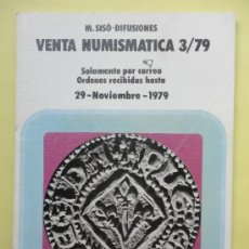 Catálogos y Libros de Monedas: VENTA NUMISMÁTICA. 3/79. AÑO 1979. Lote 38579834