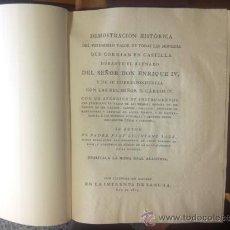 Catálogos y Libros de Monedas: DEMOSTRACIÓN HISTÓRICA DEL VERDADERO VALOR DE LAS MONEDAS DE ENRIQUE IV, LICINIANO SÁEZ, MADRID,1805. Lote 38904402