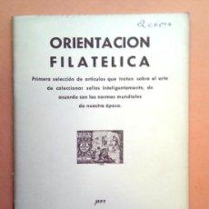 Catálogos y Libros de Monedas: ORIENTACIÓN FILATÉLICA. QUERALT. 1960. Lote 39067495