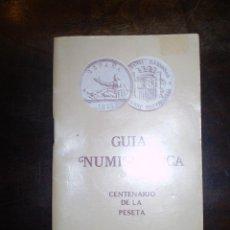 Catálogos y Libros de Monedas: GUIA NUMISMATICA CENTENARIO DE LA PESETA ESPAÑOLA AÑO 1976. Lote 39311816