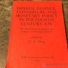 Catálogos y Libros de Monedas: THE FIFTH OXFORD SYMPOSIUM ON COINAGE AND MONETARY HISTORY, B.A.R.76 OXFORD 1980. Lote 39689740