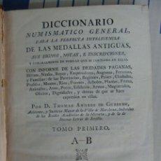 Catálogos y Libros de Monedas: GUSSEME. DICCIONARIO NUMISMÁTICO GENERAL. MADRID 1773-7. IMPRESIÓN DE J. IBARRA. . Lote 39841465