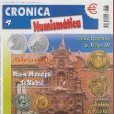 Catálogos y Libros de Monedas: CRÓNICA NUMISMÁTICA-Nº153-NOV.2003-MUSEO MUNICIPAL DE MADRID COLECCIÓN DE MONEDAS Y MEDALLAS.. Lote 42770621