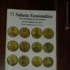 Catalogs and Coin Books - CATALOGO 71 SUBASTA NUMISMATICA LAVIN- 23 FEBRERO 2013. EXCLUSIVAMENTE POR CORREO. - 44112661