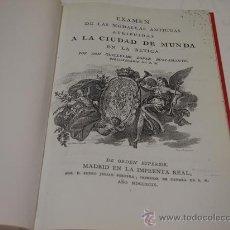 Catalogs and Coin Books - Guillermo López Bustamante, Examen de las medallas antiguas atribuidas a la ciudad de Munda - 44218198