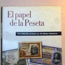 Catálogos y Libros de Monedas: COLECCIÓN 40 BILLETES ESPAÑOLES (EL PAPEL DE LA PESETA I). FACSÍMILES IMPRESOS POR LA RCM-FNMT.. Lote 44594344