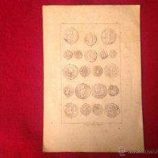 Catálogos y Libros de Monedas: ANTIGUA Y PRECIOSA LÁMINA DE 23X15,5 CM. LITOGRAFÍA DE F. CRAUS, MADRID.. Lote 56083266
