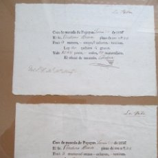 Catálogos y Libros de Monedas: POPAYAN * RECIBOS COMPRA DE ORO * CASA DE MONEDA 1836. Lote 47127232