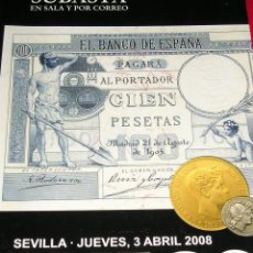 Catálogos y Libros de Monedas: CATALOGO DE SUBASTA PLIEGO. Lote 47528380