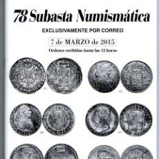 Catalogs and Coin Books - CATÁLOGO NUMISMÁTICA - MONEDAS - SUBASTA LAVIN marzo 2015 - 118574714