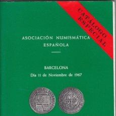 Catálogos y Libros de Monedas: CATÁLOGO DE SUBASTA COLECCIÓN DE DUROS. ASOCIACIÓN NUMISMÁTICA. BARCELONA 1967. Lote 48531222