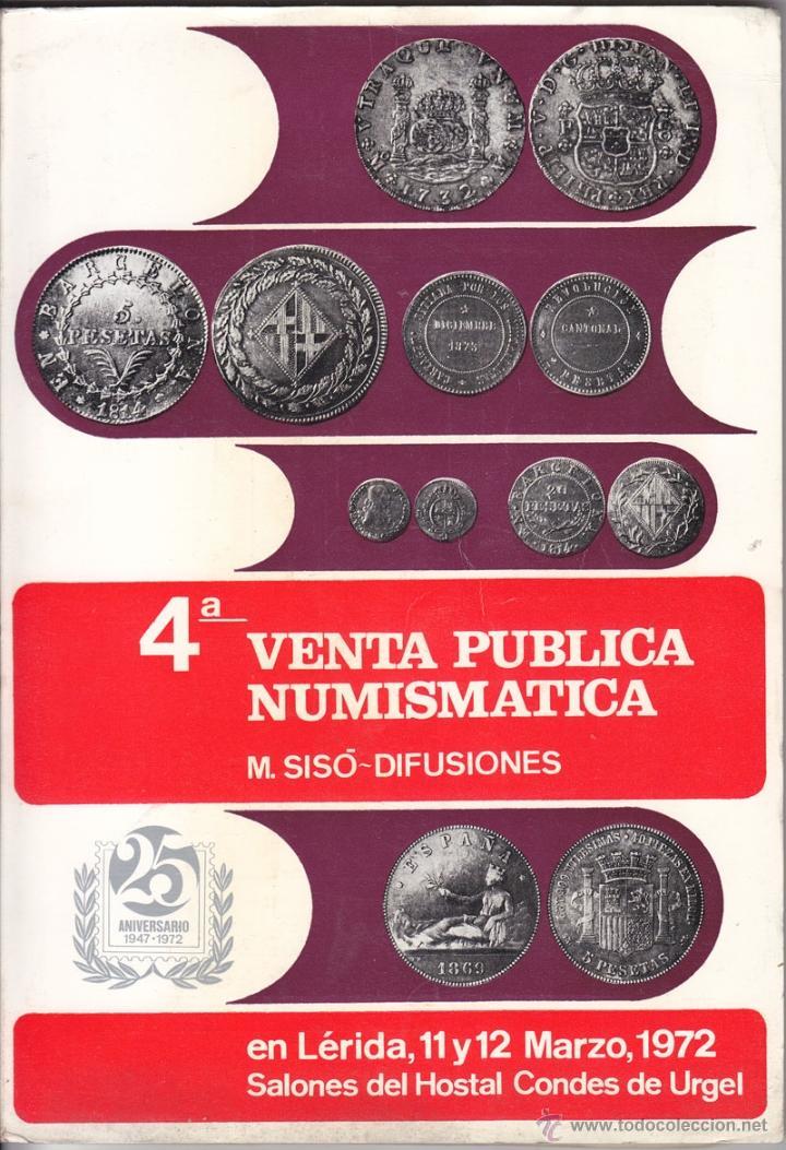 CATÁLOGO DE VENTA NUMISMÁTICA. M. SISÓ DIFUSIONES. LÉRIDA 1972 (Numismática - Catálogos y Libros)