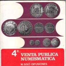 Catálogos y Libros de Monedas: CATÁLOGO DE VENTA NUMISMÁTICA. M. SISÓ DIFUSIONES. LÉRIDA 1972. Lote 48531263