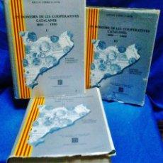 Catálogos y Libros de Monedas: LES MONEDES DE LES COOPERATIVES CATALANES 1850 / 1950 - ANT. LOPEZ I LLUCH - 3 TOMOS - AÑO 1983. Lote 48727295