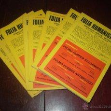 Catálogos y Libros de Monedas: LIBROS 8 TOMOS DE FOLIA NUMISMATICA. Lote 48806650