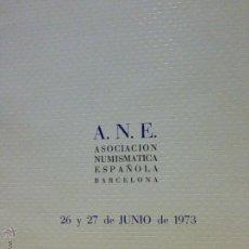 Catálogos y Libros de Monedas: ANE CALICÓ. CATÁLOGO SUBASTAS MONEDAS JUNIO 1973.. Lote 49411794