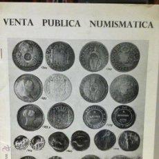 Catálogos y Libros de Monedas: SUBASTAS ANDALUCÍA. CATÁLOGO SUBASTAS DE MONEDAS. SEVILLA 1970. Lote 49412021