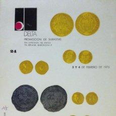Kataloge und Münzbücher - Libro Subasta de monedas Delta . Barcelona 1975 - 50049320