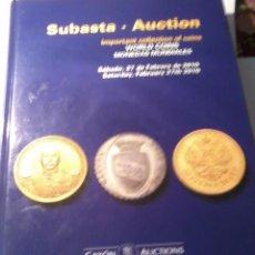 Catálogos y Libros de Monedas: SUBASTA. AUKTION IMPORTANT COLLECTION OF COINS WORLD COINS. EST6B3. Lote 50542932